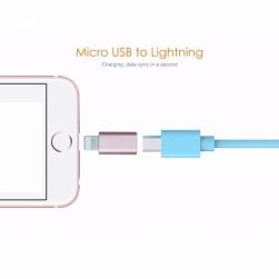 Переходник microUSB - Lightning 8 pin металл
