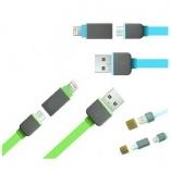 кабель usb-micro usb c lightning переходником