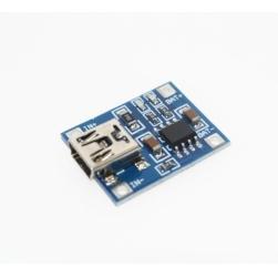 плата зарядки и защиты li-ion аккумуляторов до 1а mini usb