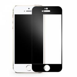Защитное стекло Iphone 5/5s (черное) 9D тех.упаковка