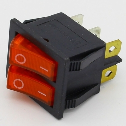 Переключатель двухклавишный 6pin 16A/220V