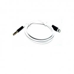 кабель lightning - aux 3,5 (белый/черный)