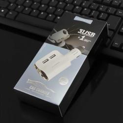 Автомобильный адаптер питания Maimi MCC302 3USB 3.1A + прикуриватель