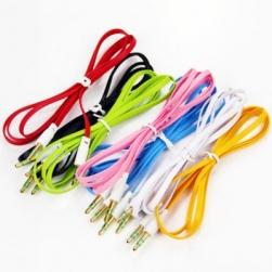 кабель aux плоский силиконовый 1м.