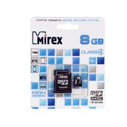 Mirex microSDHC 8 ГБ [13613-ADTMSD08]