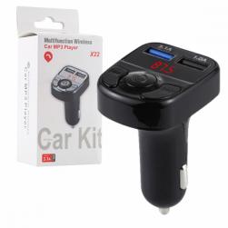 Автомобильный FM-трансмиттер - X22 Bluetooth (черный)