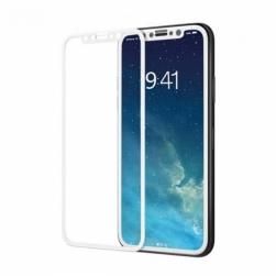 Защитное стекло 5D iPhone XS (белое)