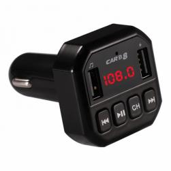 Автомобильный FM-трансмиттер - CARB8 Bluetooth (черный)