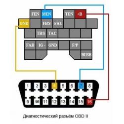 переходник obd2 - mazda 17 pin