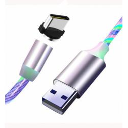 Кабель Usb - TypeC магнитный LED (белый) 1м.