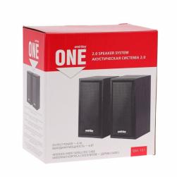 Мультимедийная акустическая система 2.0 SmartBuy ONE, дерево 6 Вт (черная) SBA-102