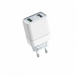 Сетевой адаптер питания BOROFONE BA39A 2 USB QC 3.0 и 2A