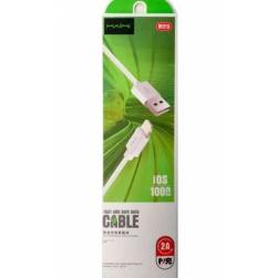 Кабель USB - Lightning Maimi M215 2A (белый) 1м