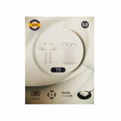 Спортивные наушники Bluetooth TWS T9 (белый)