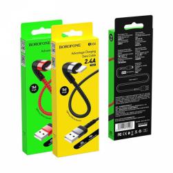 Кабель USB - Lightning BOROFONE BX34 (черный) 1м