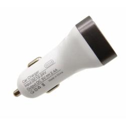Автомобильный адаптер питания Maimi T20 2USB 2.4A + кабель Lightning (белый)