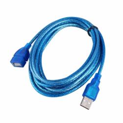Кабель-удлинитель USB мама - USB папа (синий) 3м