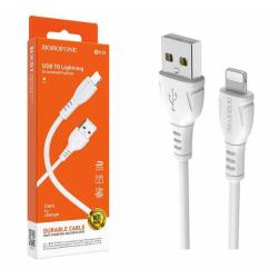 Кабель USB - Lightning BOROFONE BX51 (белый) 1м 2,4A