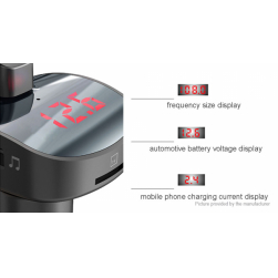 FM-трансмиттер BBL08 Bluetooth + вольтметр