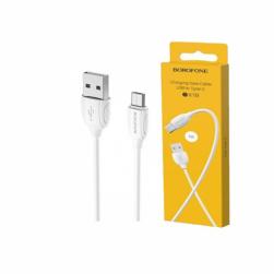 Кабель USB - Micro Borofone BX19 (белый) 1м