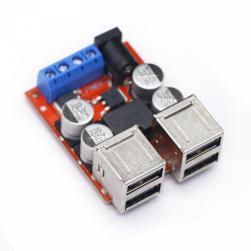 Преобразователь понижающий 8-35в / 5в 8А 4*USB