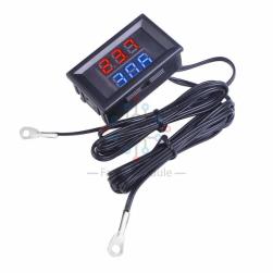 Термометр с 2-мя выносными датчиками (4-28в)