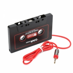 aux кассета для автомагнитол (красный провод)
