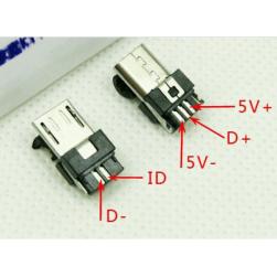 Micro USB разъем 5 пиновый, разборный.