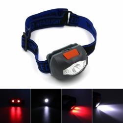 налобный фонарь led+2red