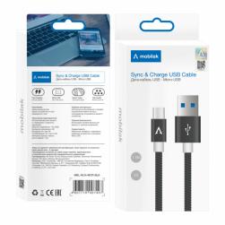 Кабель micro USB NYLON 2A 1,4М