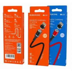 Кабель USB - Lightning BOROFONE BU16 2.4A 1.2м. магнитный