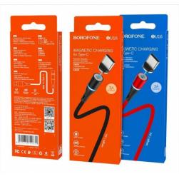 Кабель USB - TypeC BOROFONE BU16 2.4A 1.2м. магнитный
