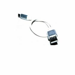 кабель usb - microusb 20 см (белый)