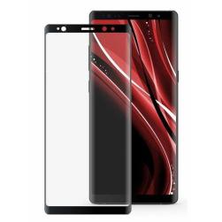Защитное стекло Samsung Note 10 Plus (черный) полная проклейка