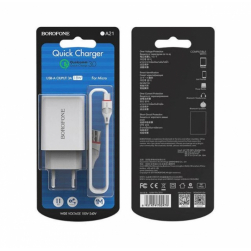 BOROFONE BA21A 1USB QC 3.0 + кабель Micro