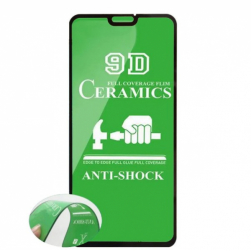 Защитное стекло Ceramics Xiaomi RedMi NOTE 8T (черный) тех. упаковка