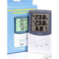 Термометр гигрометр электронный с 2-мя датчиками TA318