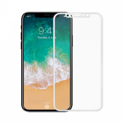 Защитное стекло 5D iPhone XR (белое)