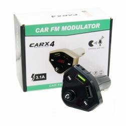 Автомобильный FM-трансмиттер - CARX4 Bluetooth (черный)