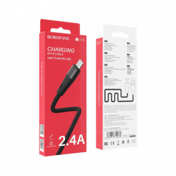 Кабель USB - Micro BOROFONE BU10 (черный) 1м