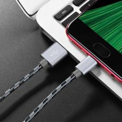 Кабель USB - Micro BOROFONE BX24 (серый) 1м 2.4A