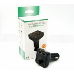 Автомобильный FM-трансмиттер - A9 Bluetooth (черный)