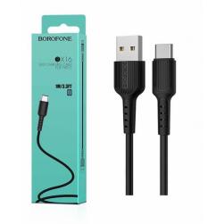 Кабель USB - TypeC BOROFONE BX16 Easy (черный) 1м