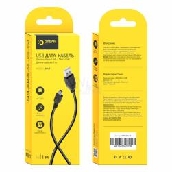 Кабель mini USB DRM-MU1-01 1м черный DREAM