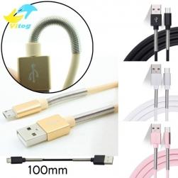 кабель usb- typec spring (черный) 1m