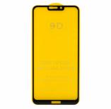 Защитное стекло Honor 8C (черный) 9D тех. упаковка