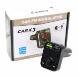 Автомобильный FM-трансмиттер - CARX3 Bluetooth (черный)