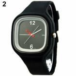 часы кварцевые с силиконовым браслетом