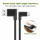 Угловой нейлоновый кабель MicroUSB/USB 90гр.