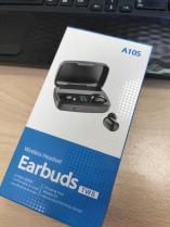 Беспроводные наушники TWS Earbuds A10S + Power Bank (черный)